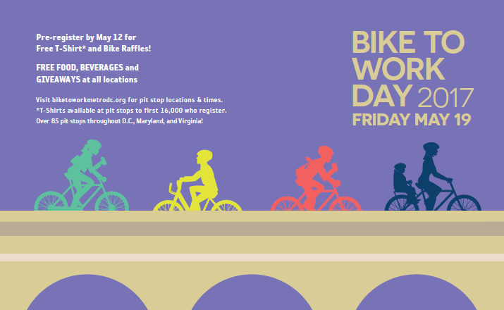 Bike To Work Day is Friday, May 20, 2016!