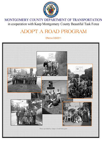 Brochure Cover to Adopt a Road Program Guide