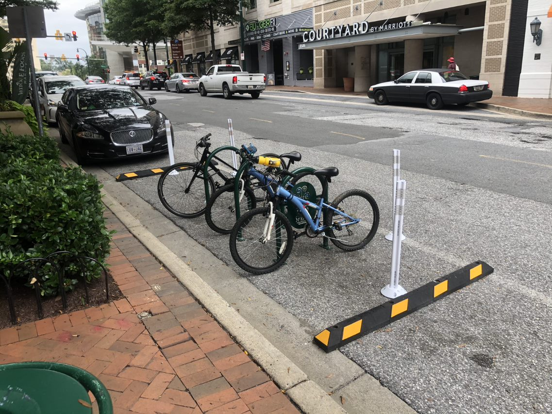 Fenton St. bike & scooter corral