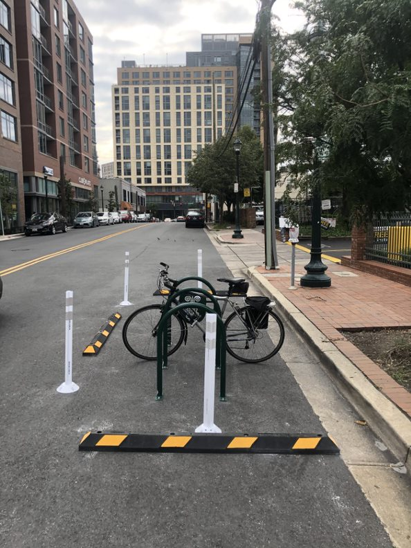 Thayer Ave. bike & scooter corral