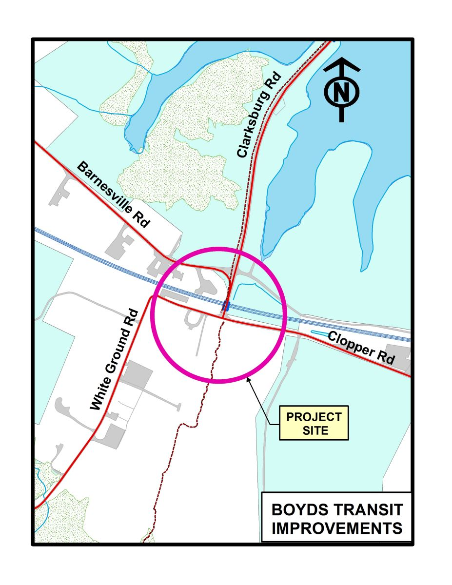 Click to Enlarge Picture of Boyds Transit Station