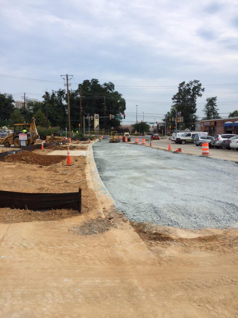 Roadway grading for phase 1