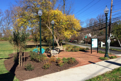 Completed Bethesda Trolley Trail Wayside II with Landscape