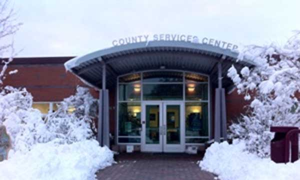 Eastcounty Service Center in all its winter glory