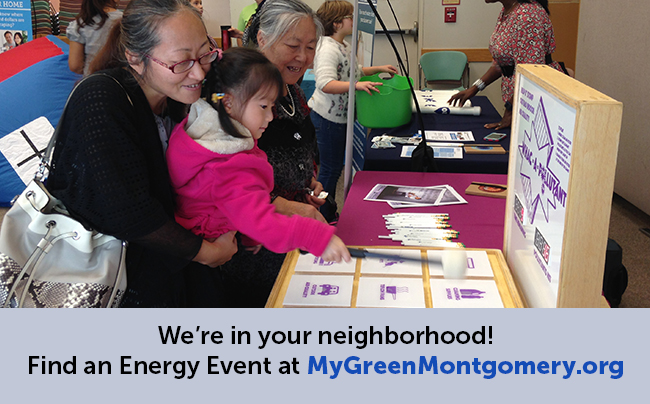 Find an Energy Event on MyGreenMontgomery.org