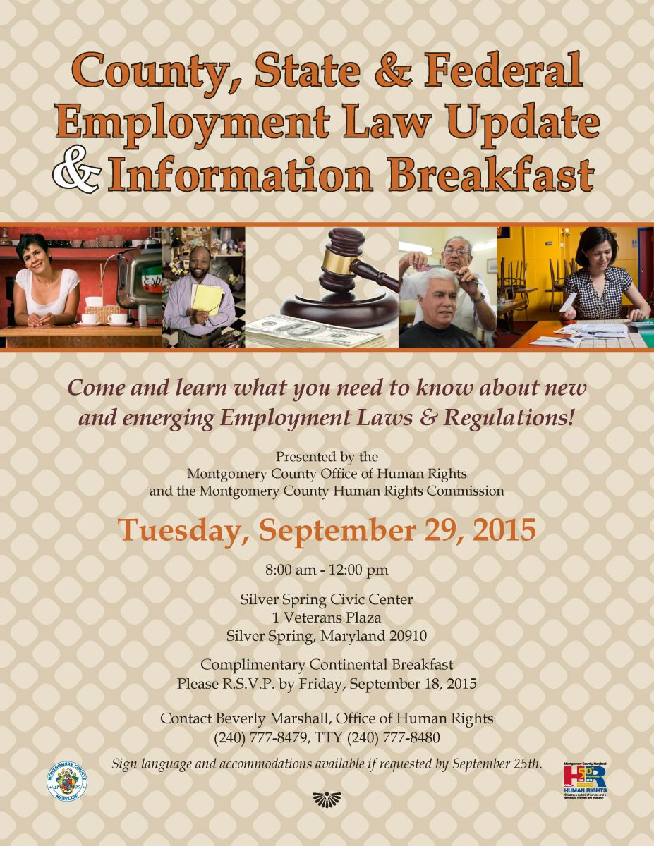 County, State & Federal Employment Law Breakfast