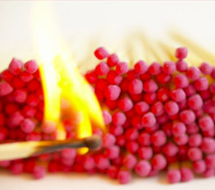 Playing with fire - photo of book of matches