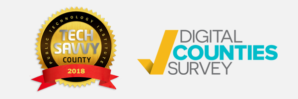 2018 tech savvy county award and digital counties survey award logo
