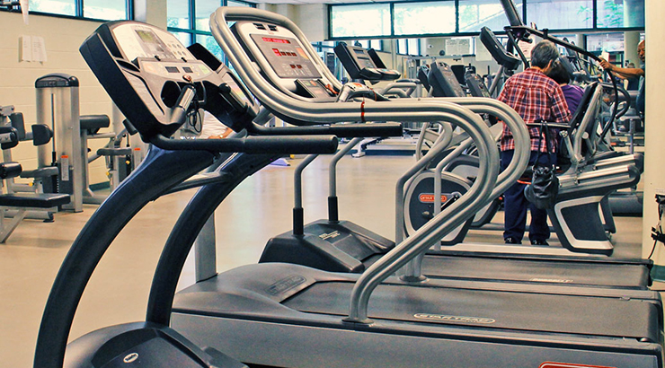 gym and exercise machines