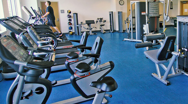 Exercise and weight room - Wisconsin Place Community Recreation Center