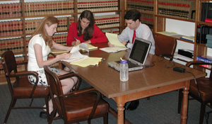 High School Interns at the State's Attorney's Office Library