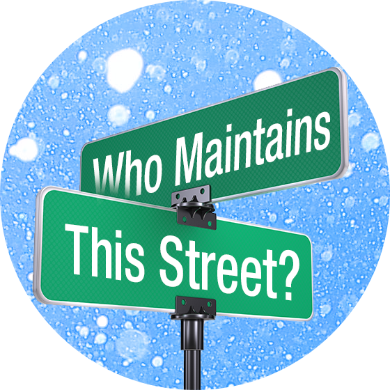 Determine if the County is responsible for plowing or treating your street.