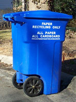 Image: Wheeled Cart for paper recycling - information for phone request