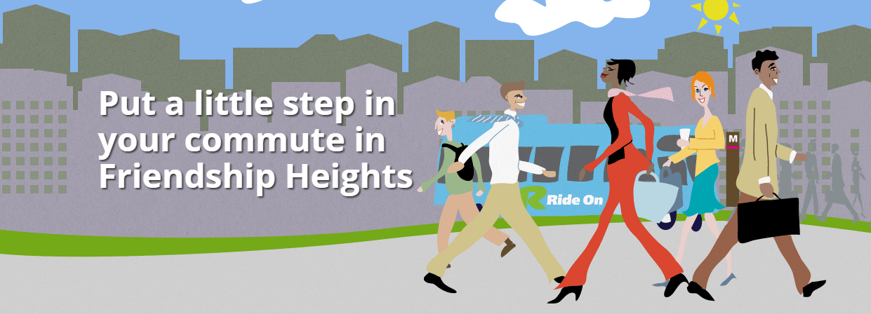 Put a little step in your commute in Friendship Heights