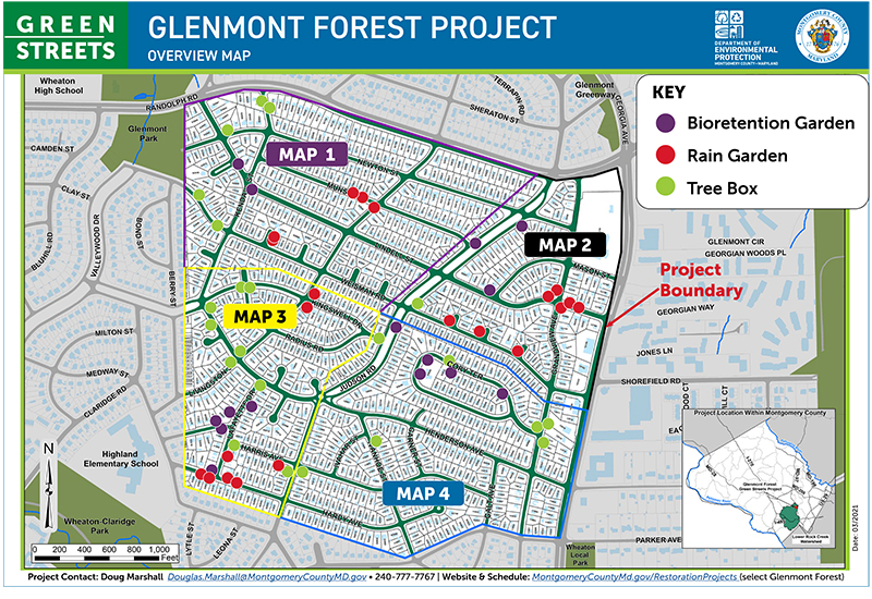 Glenmont Forest Green Streets Overview Map